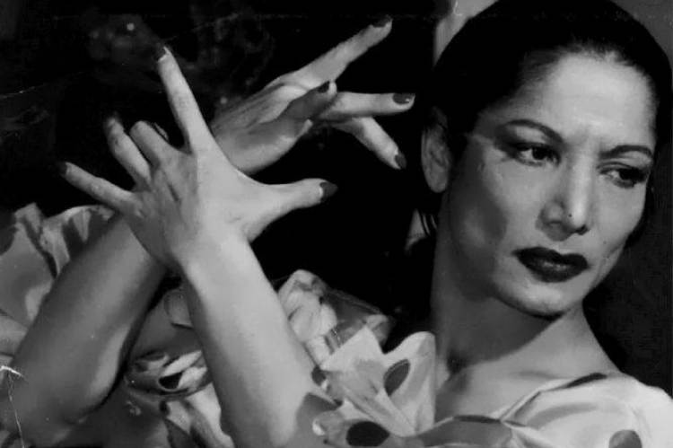 Carmen Amaya 1959-ben. Fotó: Manel Gausa.