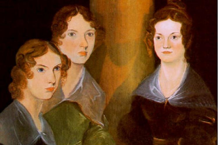 Anne, Emily és Charlotte Brontë (Testvérük, Branwell festménye, 1834)