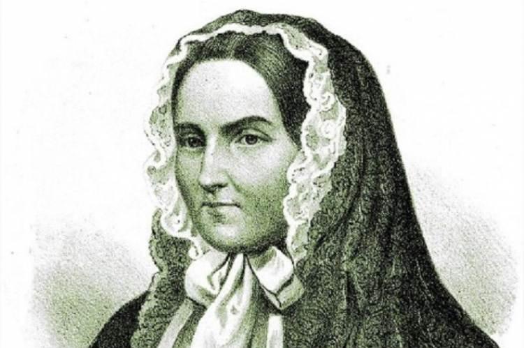 Brunszvik Teréz - Szinay István metszete, 1860 (részlet)