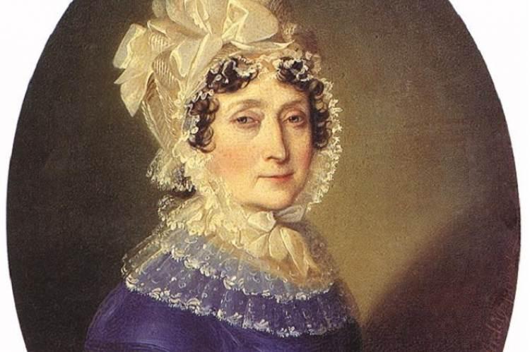 Festetics Julianna 1817-ben (Johann Ender festménye, részlet)