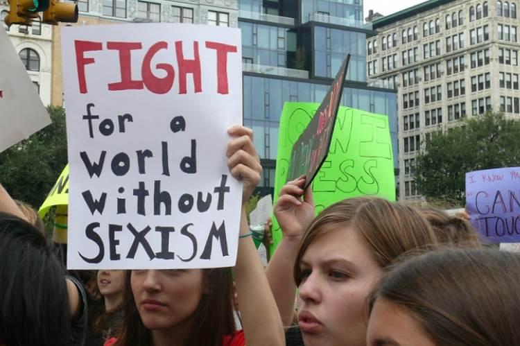 2011, Slutwalk, New York. Forrás: Charlotte Cooper, Flickr