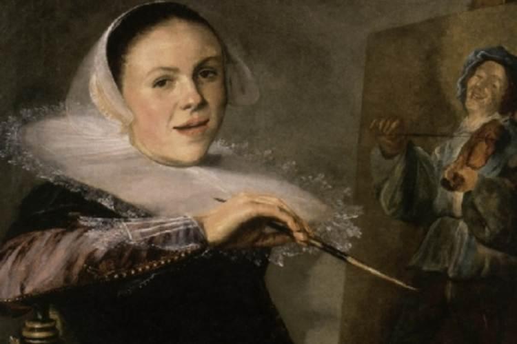 Judith Leyster: Önarckép (1633, részlet)