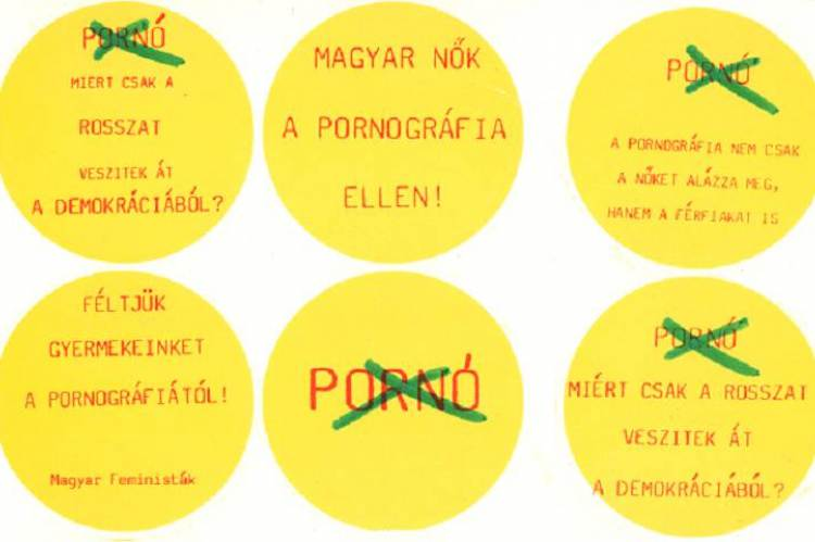 A Szegedi Feminista Csoport matricakampánya (1989-90)