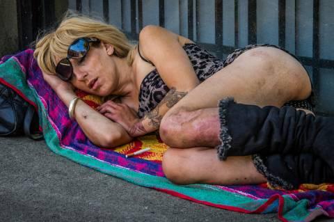 Ted McGrath:  Street Sleeper - Vancouver, 2014