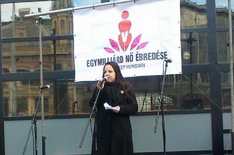 Antoni Rita a 2014-es Egymilliárd Nő Ébredése rendezvényen