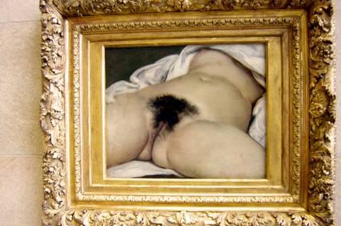 Gustave Courbet: A világ eredete című festménye (1866, Musée d'Orsay)