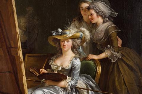 Adélaïde Labille-Guiard: Önarckép két tanítvánnyal - részlet