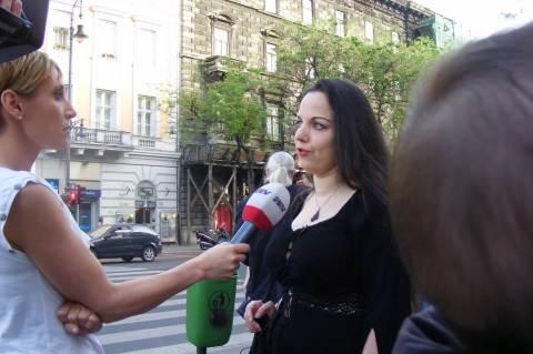 leszbikus szex demonstráció