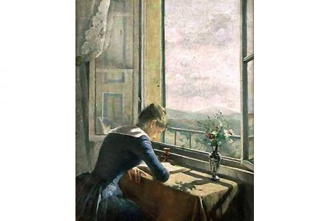 Asta Norregaard: Olvasó nő