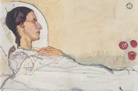 Ferdinand Hodler: Valentine Godé-Darel a betegágyon 1914