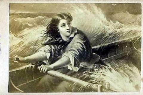Ida Lewis – Phebe Ann Hanaford metszete (1876)