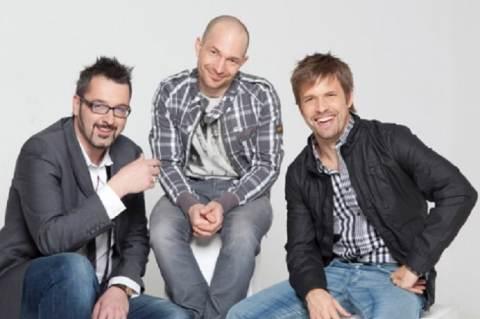A vicces kedvű műsorvezetők (Rákóczi Feri, Vadon Jani, Sebestyén Balázs)
