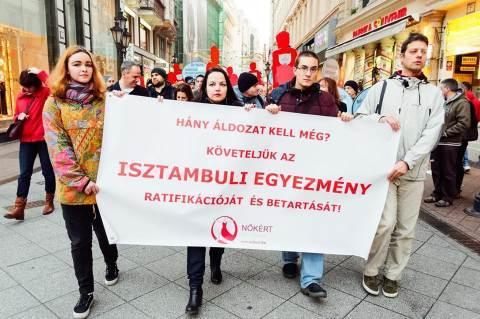 2016. november 27. Néma Tanúk felvonulás, Fotó: Csöre András