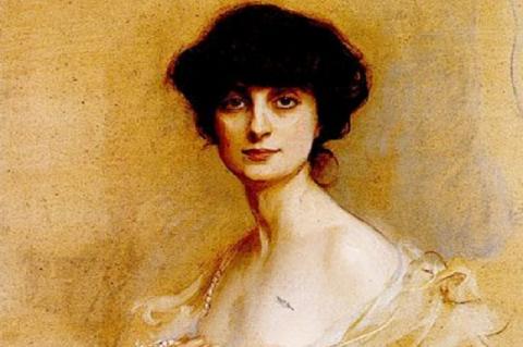 Anna de Noailles Philip de Laszlo magyar származású festő képén (1913)