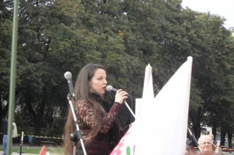 Antoni Rita a Nők Lázadása demonstráción (Fotó: Cseh Gabriella)