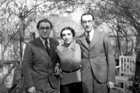 Zádor Anna testvéreivel az 1920-as évek elején