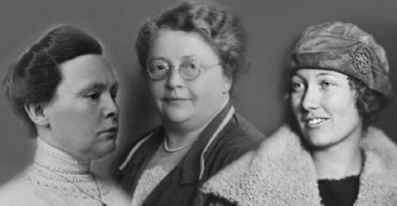 A Nemzetközi Nőmozgalmi Archívum létrehozói: Johanna Naber, Rosa Manus és Willemijn Posthumus van der Goot.