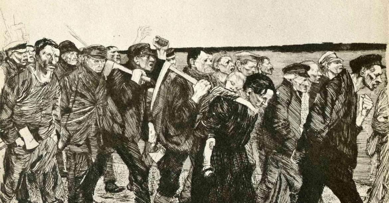 Käthe Kollwitz: Takácsfelkelés (1897)