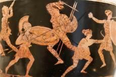 Amazonomachia, i.e. 420 körüli attikai vörösalakos váza
