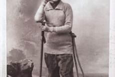 Annie Smith Peck hegymászó felszerelésben