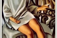 Tamara de Lempicka: Kizette az erkélyen (1927)